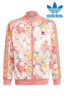 adidas Originals Pink Floral Trefoil Track Top