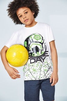 Football Splat T-Shirt (3-16yrs)