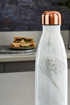 500ml Marble Effect Sports Water Bottle by Tower