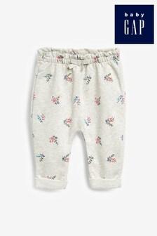 Szare spodnie dresowe w kwiaty Gap