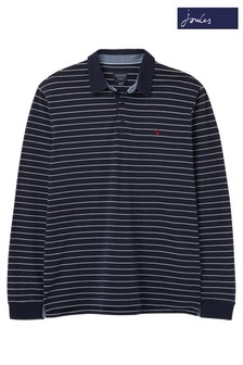 Joules Blue Woodwell Long Sleeve Polo