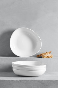 Set of 4 Curve Pasta Bowls