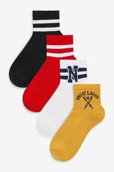 Great Lakes Collegiate Cropped Ankle Socks 4 Pack