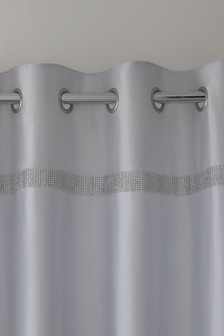 Harper Gem Faux Silk Eyelet Curtains