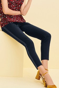 Side Stripe Skinny Trousers