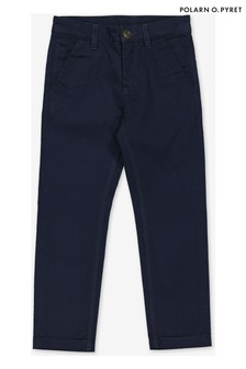Polarn O. Pyret Blue Smart Cotton Chinos