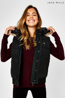 Jack Wills Black Willow Heritage Gilet