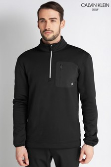 Calvin Klein Golf Black Pinnacle Half Zip Jumper