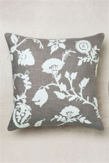 Paisley Floral Embroidered Cushion