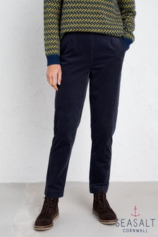 Seasalt Blue Crackington Trousers