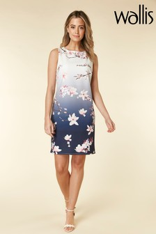 Wallis Petite Floral Ombre Shift Dress