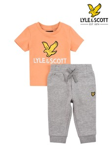Lyle & Scott Eagle Logo T-Shirt And Joggers Set
