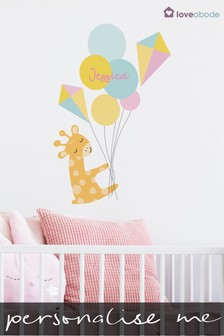 Personalised Giraffe Wall Sticker by Loveabode
