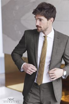 Signature Stripe Slim Fit Suit: Jacket