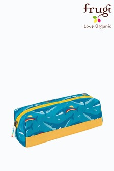Frugi Blue Recycled Rainbow Whale Print Pencil Case
