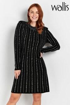 Wallis Black Sparkle Shift Dress