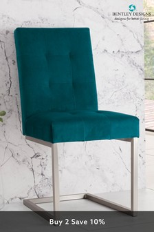 Set of 2 Tivoli Cantilever Chair Green by Bentley Designs