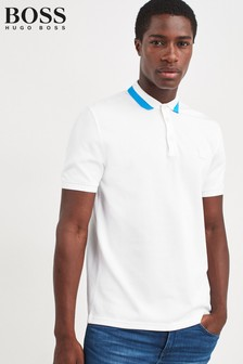 BOSS White Pase Polo