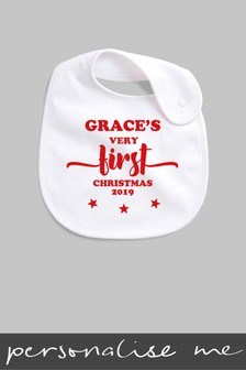 Personalised Very First Christmas Bib