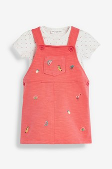 Embroidered Pinafore Dress (0mths-2yrs)