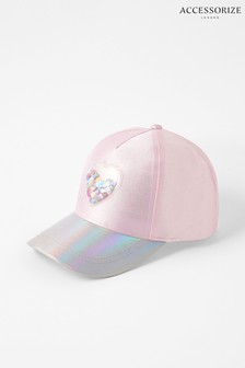 Accessorize Pink Shell Shimmer Baseball Cap