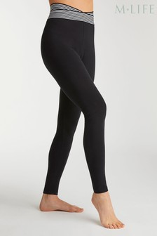 M.Life Yoga Stripe High Waisted Performance Leggings