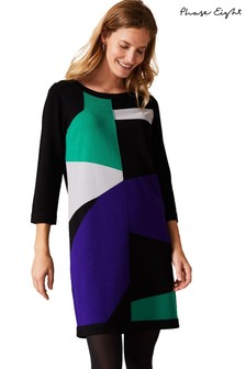 Phase Eight Green Caleigh Colourblock Dress