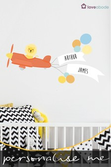 Personalised Aeroplane Wall Sticker by Loveabode