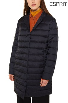 Esprit Long Thinsulate™ Padded Jacket With Neck Detail