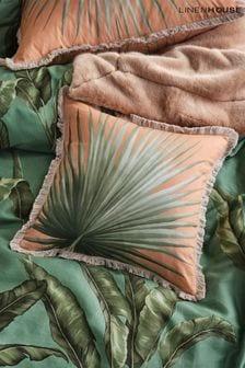Livia Banana Leaf Square Pillowcase by Linen House