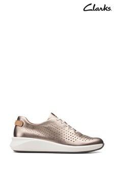 Clarks Gold Metallic Un Rio Tie Shoes