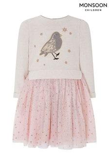 Monsoon Children Pink Baby Rae Robin Disco Dress