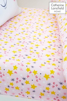 Super Bunny Star Fitted Sheet by Catherine Lansfield
