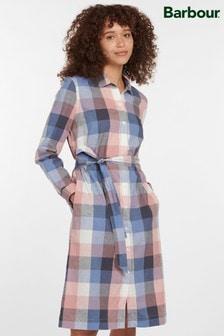 Barbour® Coastal Oyster Pink Check Tern Shirt Dress