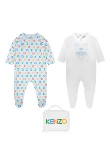 Baby Boys Blue Cotton Babygrow Set