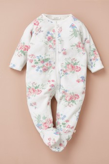 Floral Fleece Sleepsuit (0mths-3yrs)