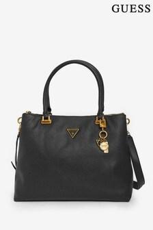 Guess Black Destiny Logo Carryall Bag