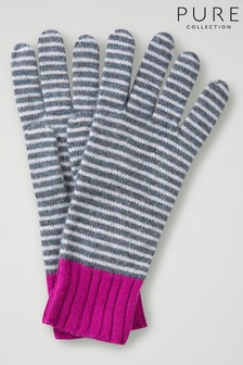 Pure Collection Grey Cashmere Gloves