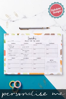 Personalised Weekly Food Planner by Oakdene Designs