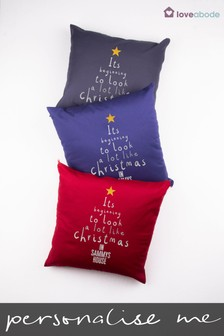 Personalised Looks Like Christmas Cushion by Loveabode