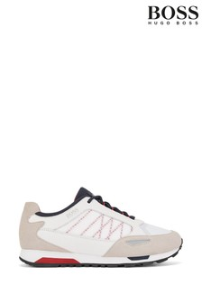 BOSS White Parkour Trainers