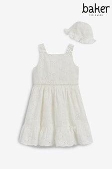 Baker by Ted Baker White Broderie Dress