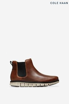Cole Haan Brown Zerogrand Chelsea Elasticated Boots