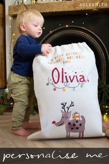 Personalised Children's Reindeer Sack by Solesmith
