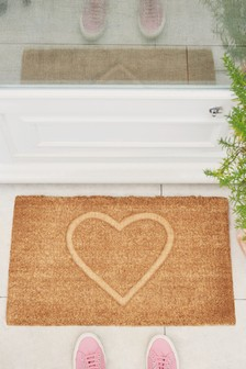 Heart Embossed Doormat