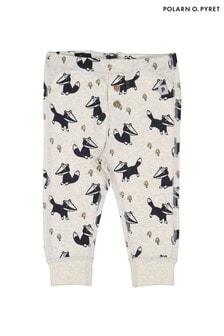 Polarn O. Pyret Grey GOTS Organic Playful Badger Trousers
