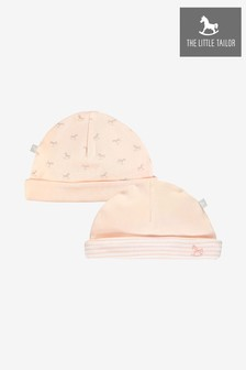 The Little Tailor Pink Rocking Horse Jersey Hats Two Pack