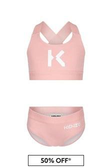 Kenzo Kids Girls Pink Bikini
