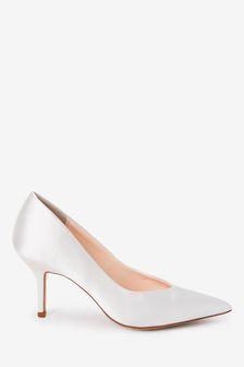 Bridal Satin Court Shoes