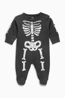 万圣节骷髅图案连体睡衣 (0-18 个月)